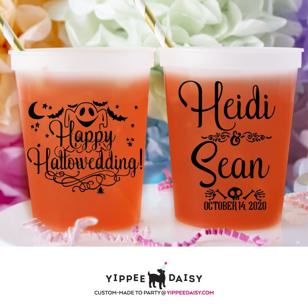 Happy Hallowedding Personalized Halloween Color Changing Cups - Color Changing Cup
