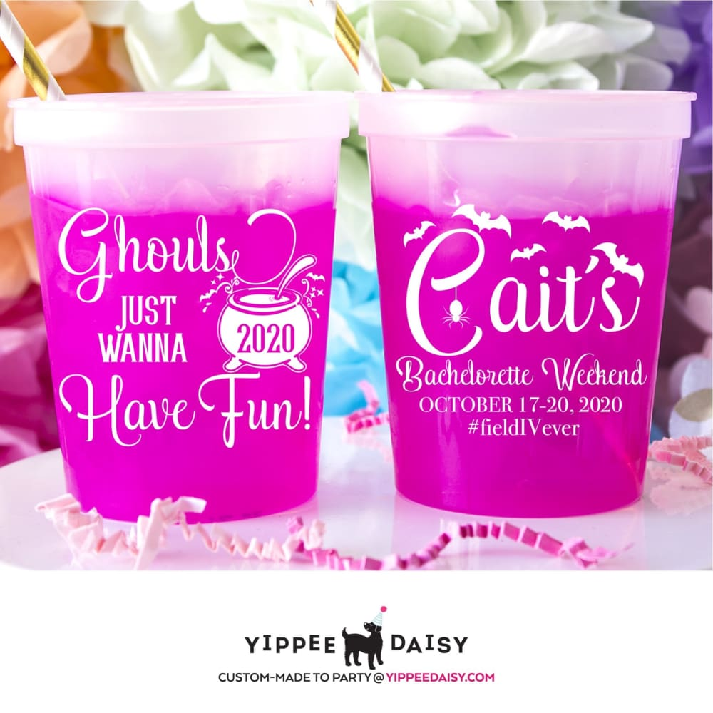 Ghouls Just Wanna Have Fun Personalized Halloween Color Changing Cups - Color Changing Cup