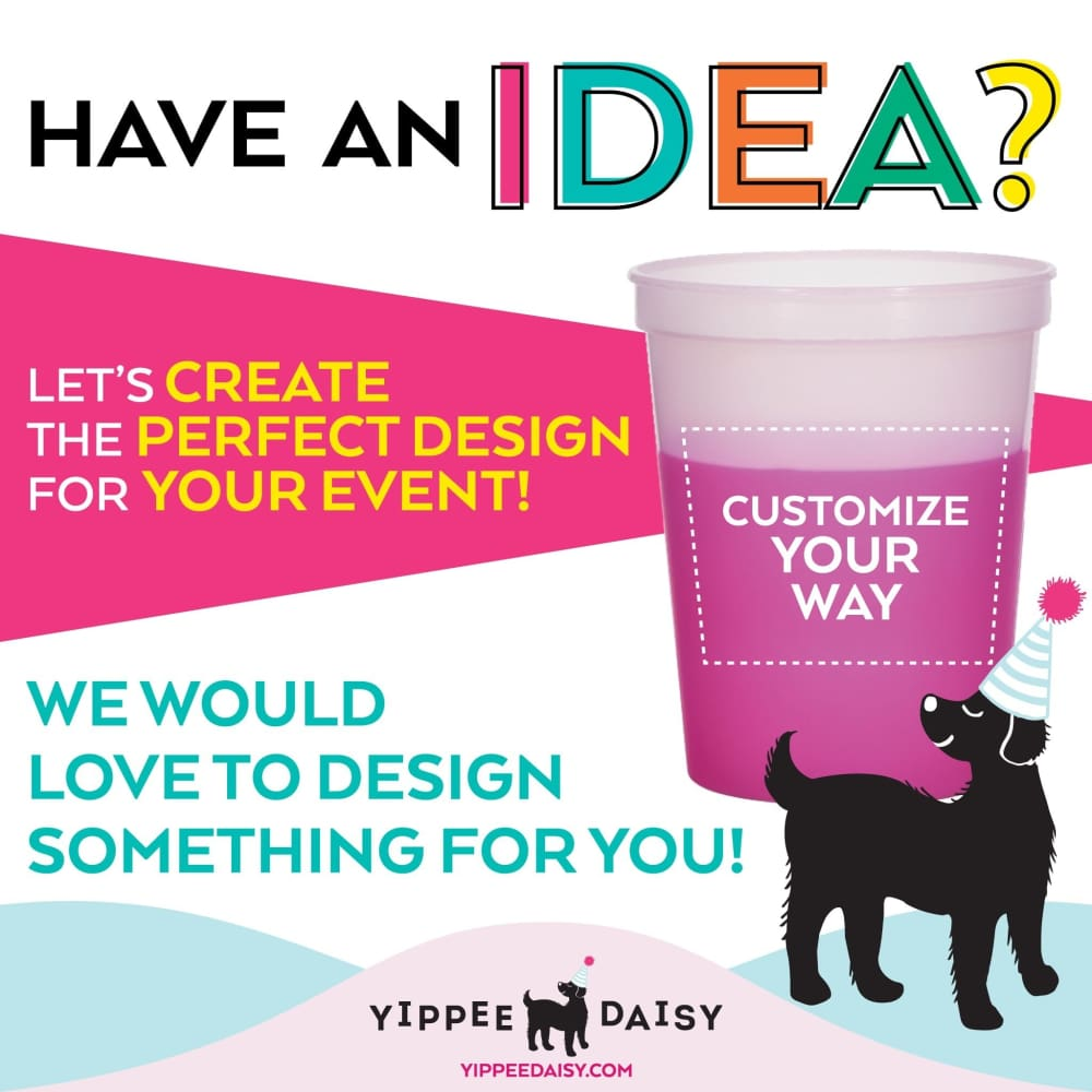 Customize Your Way For Any Event Personalized Color Changing Cups - Color Changing Cup