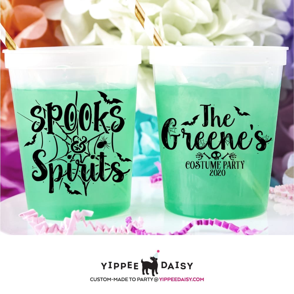 Spooks & Spirits Personalized Halloween Color Changing Cups - Color Changing Cup