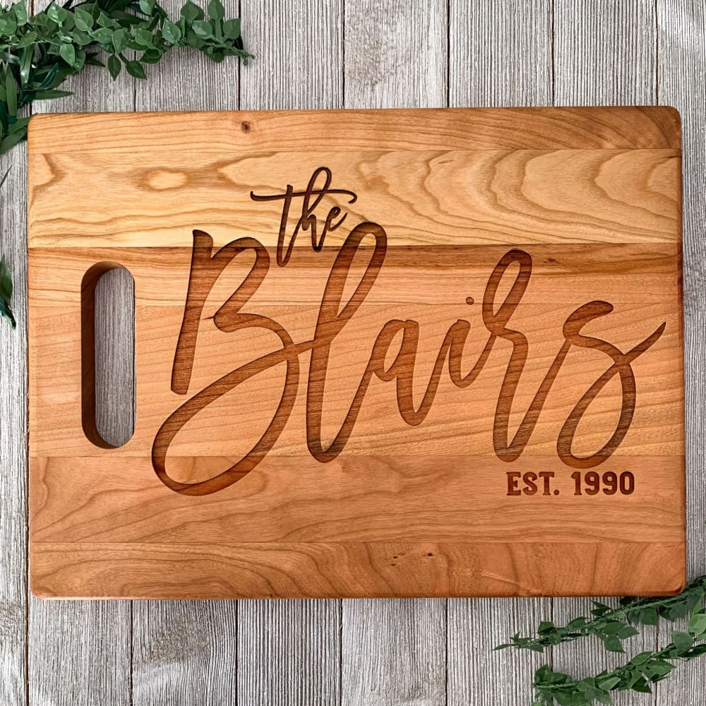 The Home Kitchen Personalized Cutting Board