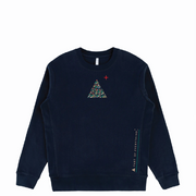 Navy 'Wave' Crewneck