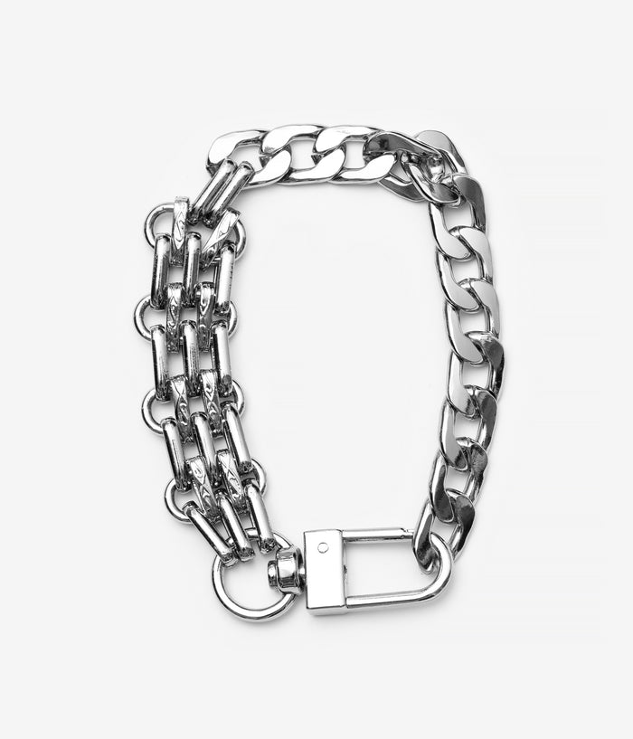 Alloy Plate Double Bracelet