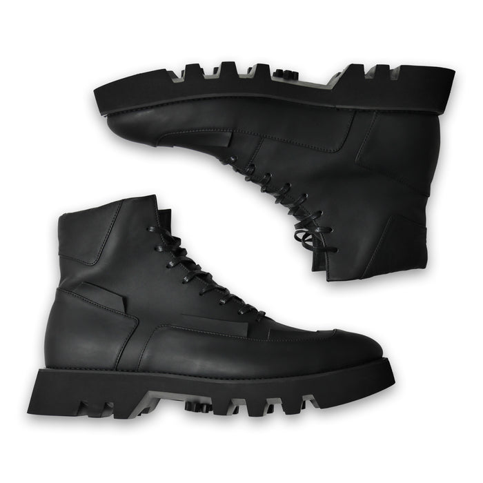 Segment Leather Boots