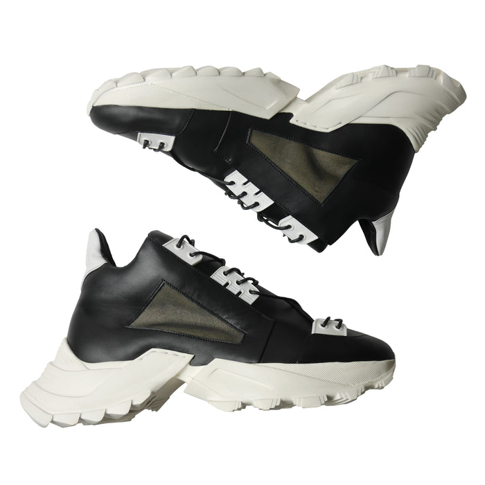 GEMINI II Black x White Sneakers