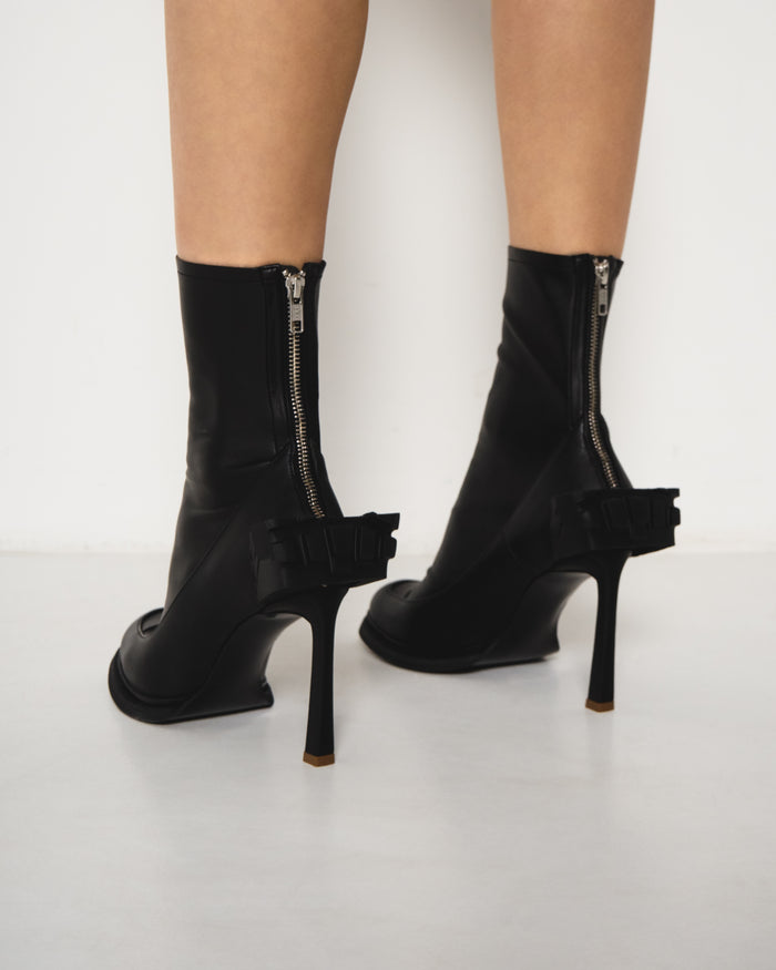 Stiletto Block Heels Black