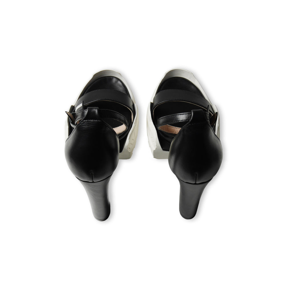 Hybrid High Heel Sandals Black