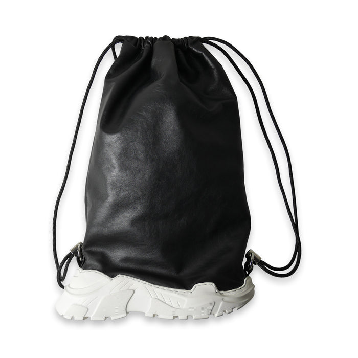 Hybrid Drawstring Leather Backpack
