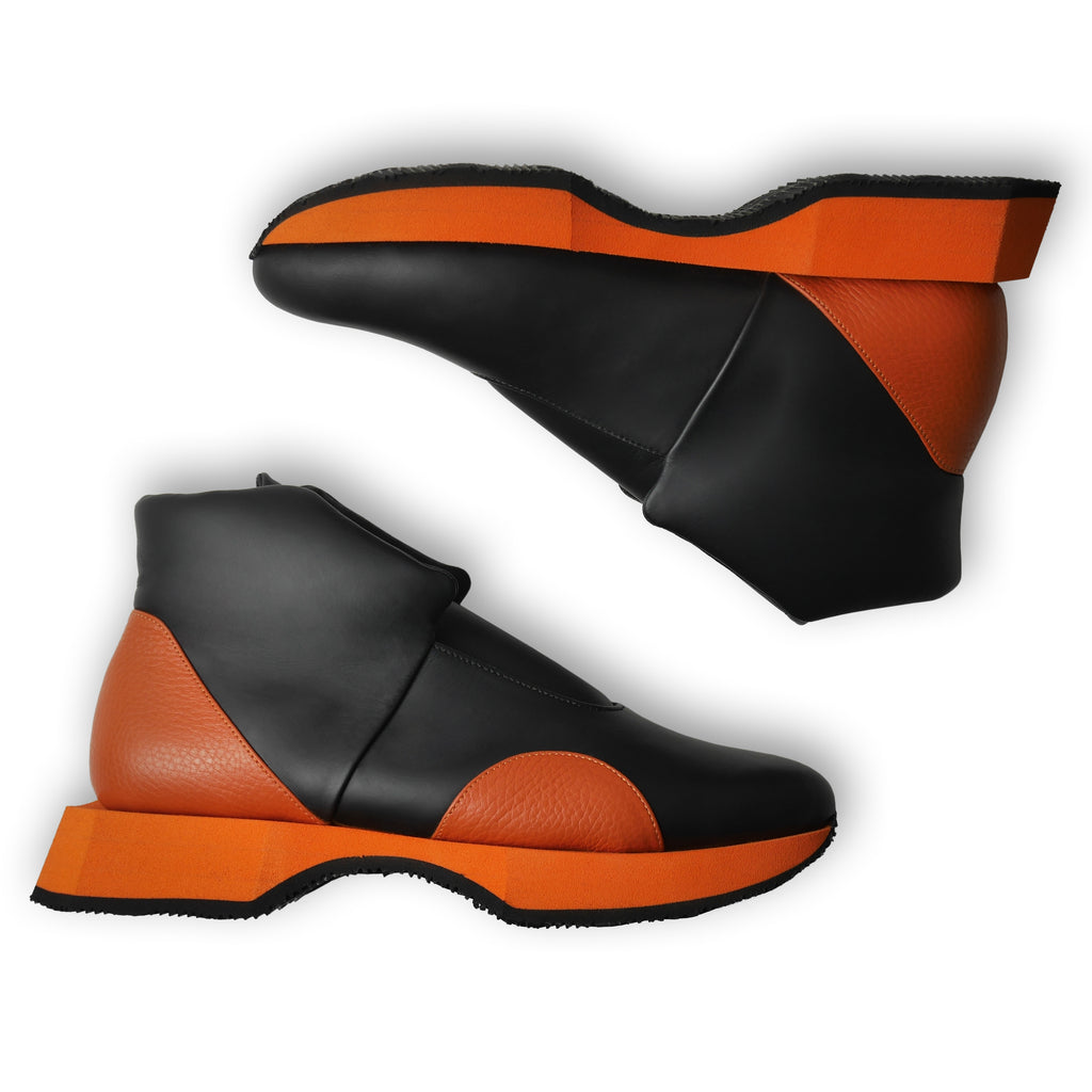 Mars High Black x Orange Sneakers