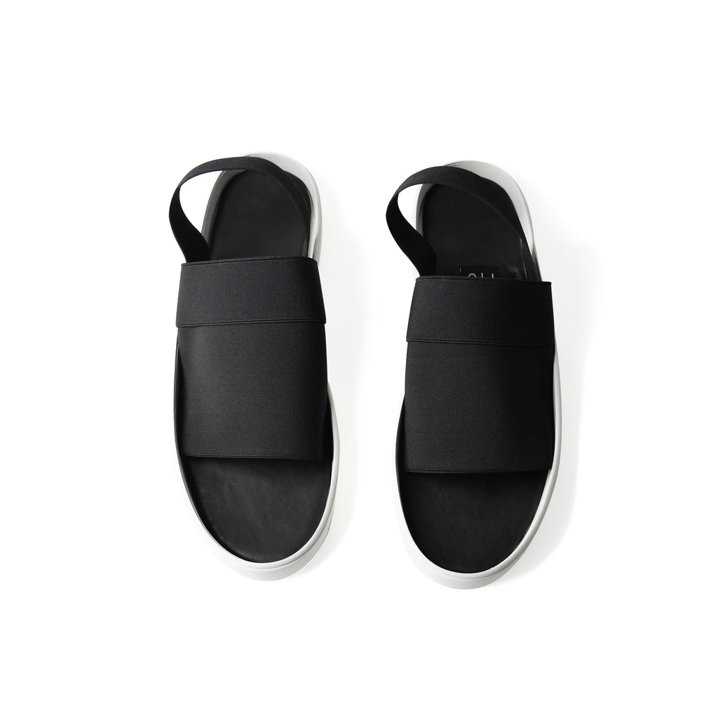 G-elastic Sandals Black x White
