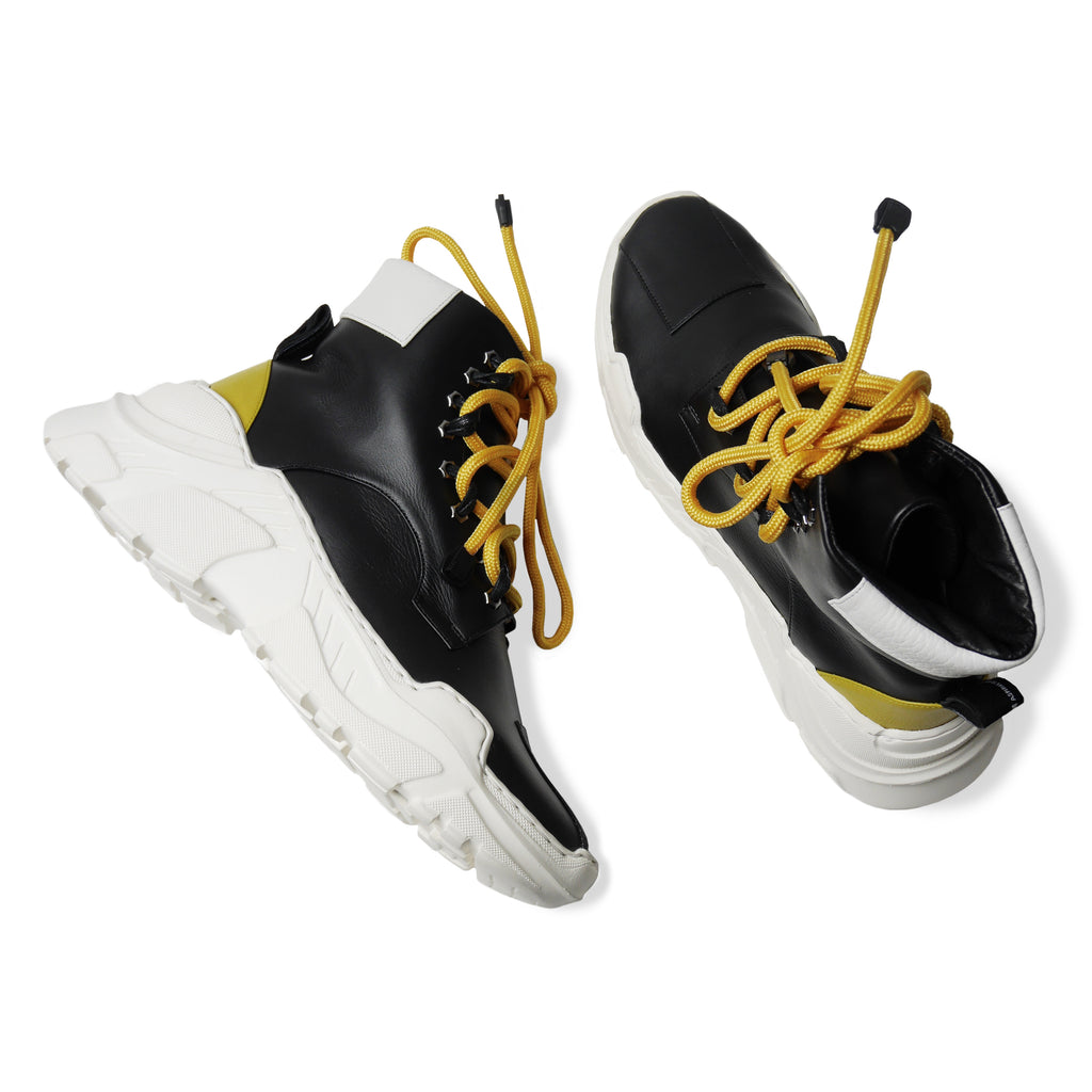 GLACIA High Sneakers Black and Yellow