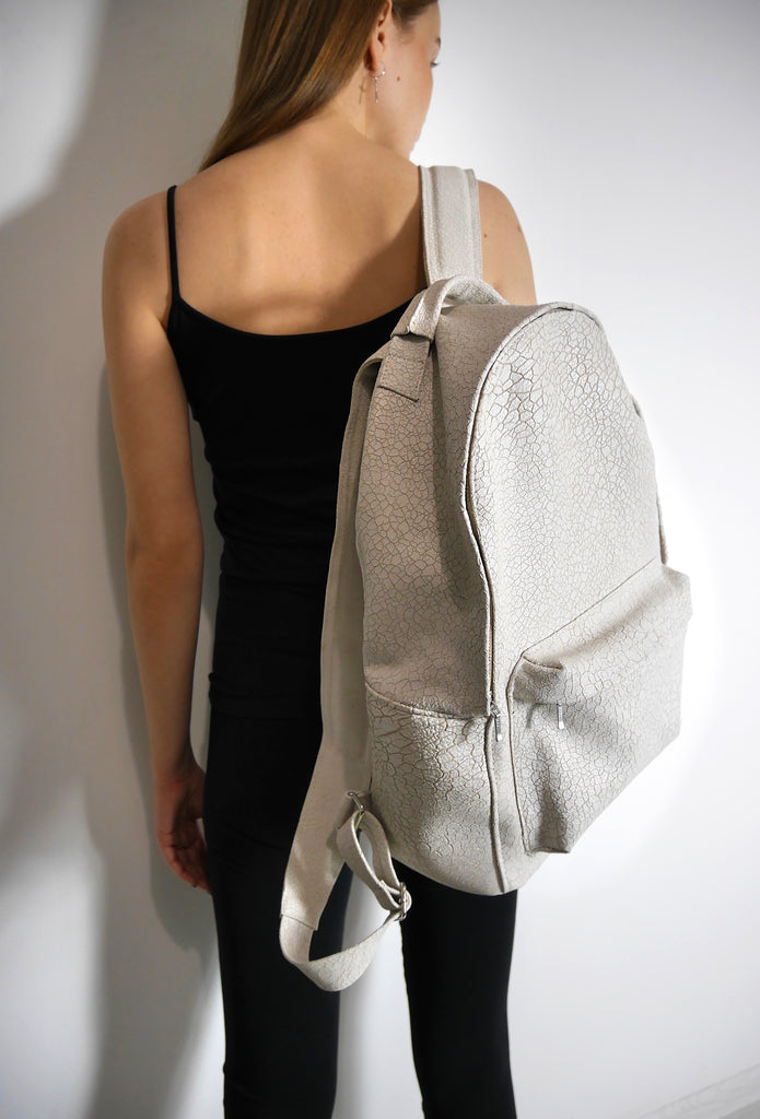 Desert Textured Leather Backpack