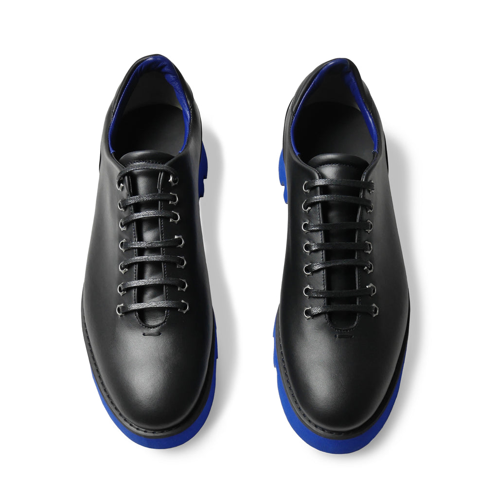 GLACIA Black & Blue Wholecut Oxfords