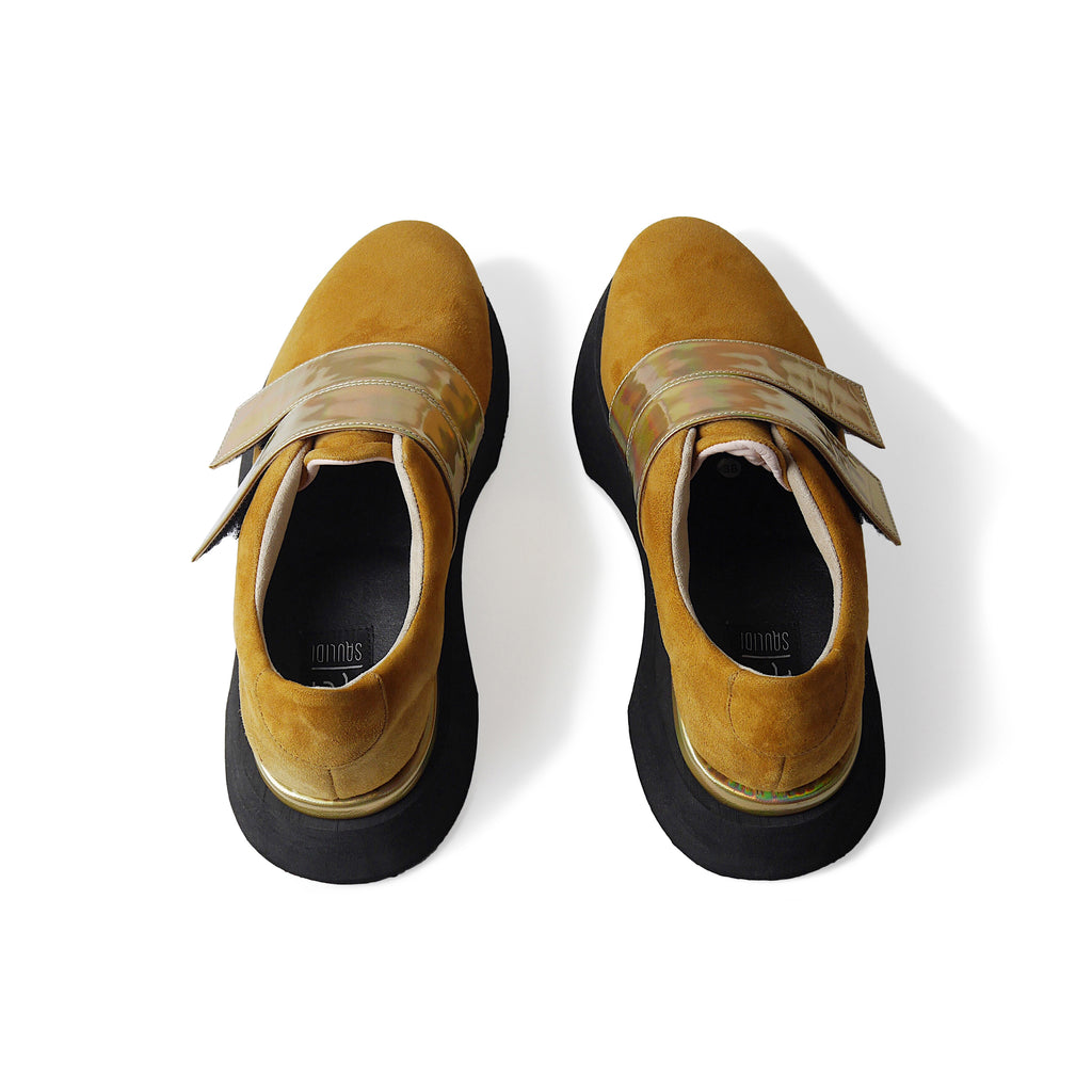 EARTH Low Leather Sneakers Yellow