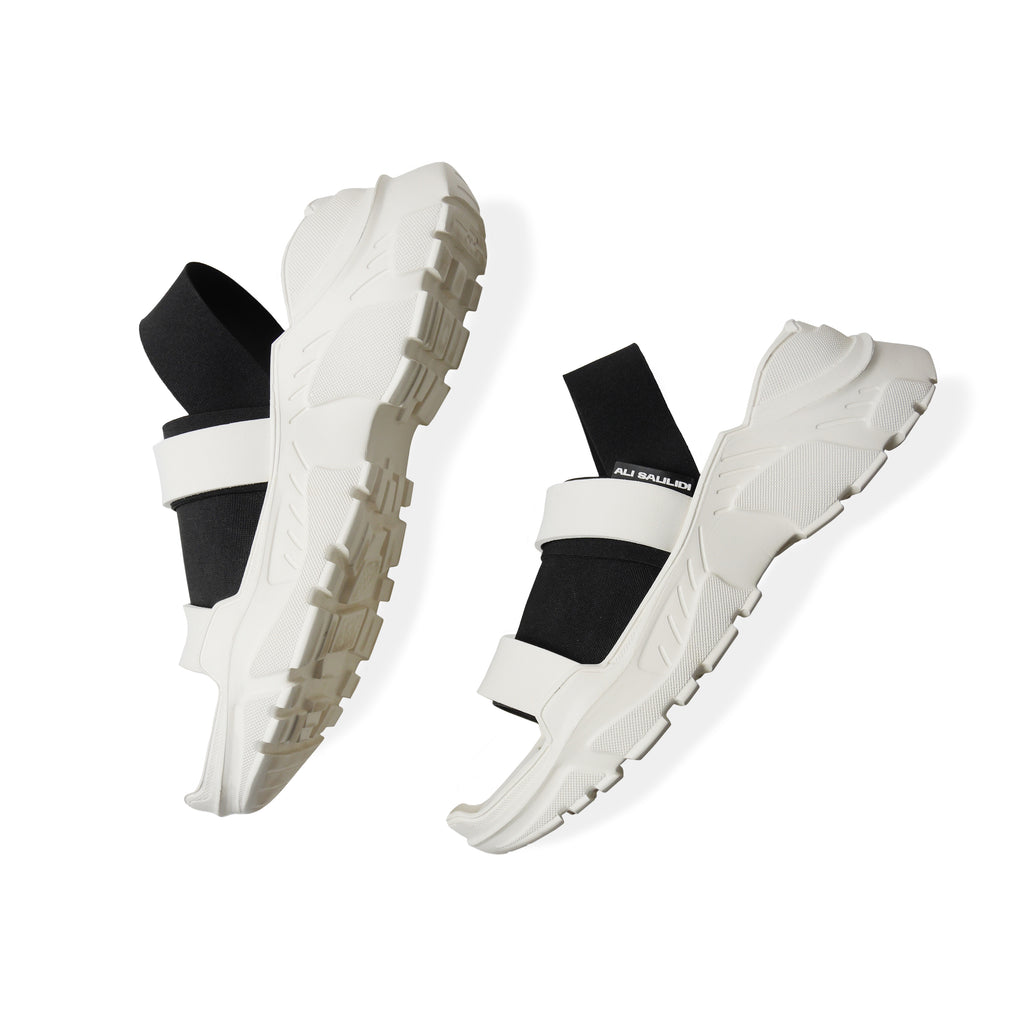 Mascaron Elastic Sandals Black&White