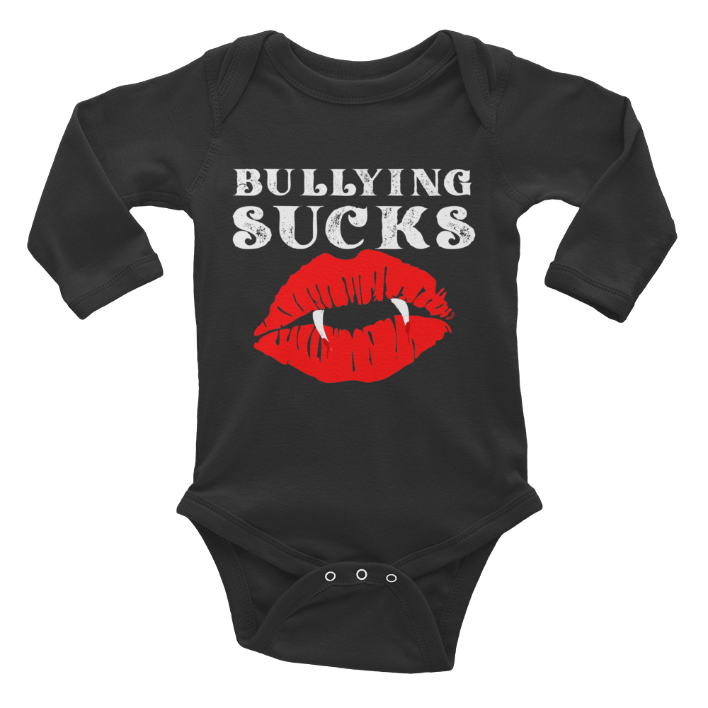 Bullying Sucks Infant Long Sleeve Bodysuit