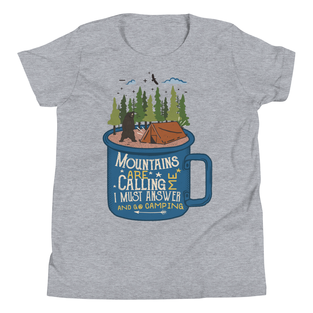 Mountains Are Calling Youth Short Sleeve T-Shirt