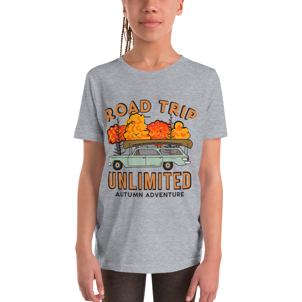 Road Trip Unlimited Autumn Youth Short Sleeve T-Shirt