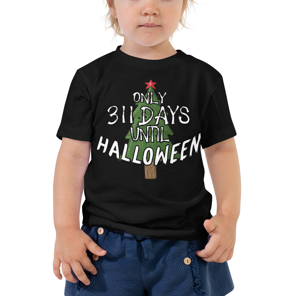 311 Days Until Halloween Toddler Short Sleeve Tee