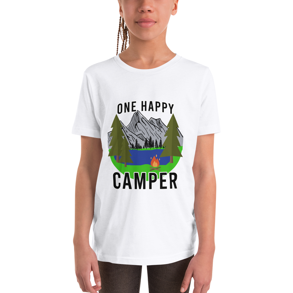 One Happy Camper Youth Short Sleeve T-Shirt