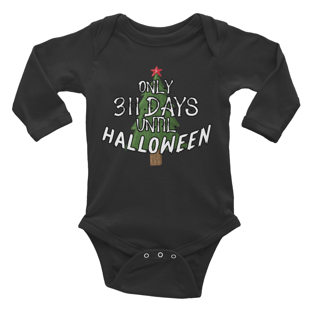 311 Days Until Halloween Infant Long Sleeve Bodysuit