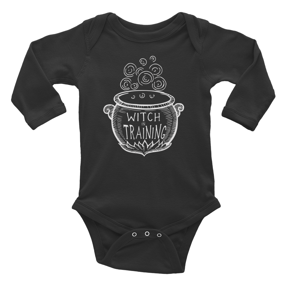 Witch In Training Infant Long Sleeve Bodysuit