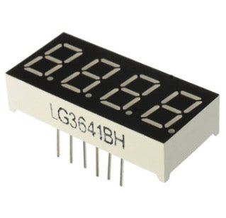 5F000F 0.36 Inch 7 Segment 4 Digit Common Anode 0.36 Inch RED LED Digital Display