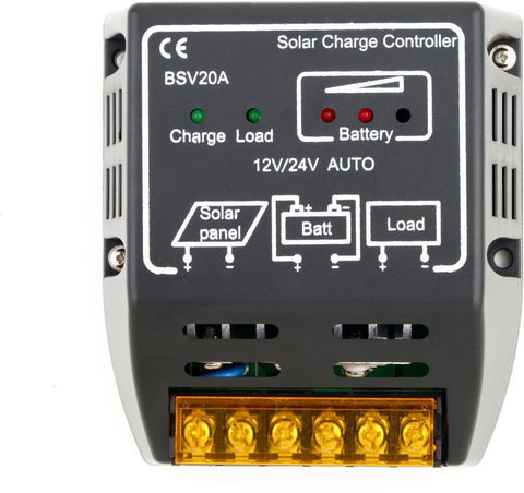 20A 12V/24V Solar Panel Charge Controller Battery Regulator