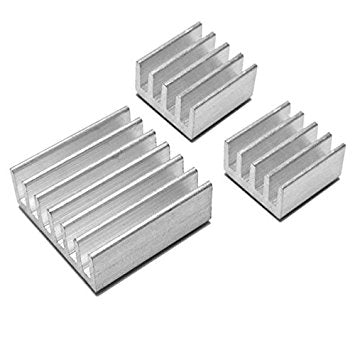 1D1  3pcs Adhesive Aluminum Heatsink For Raspberry Pi
