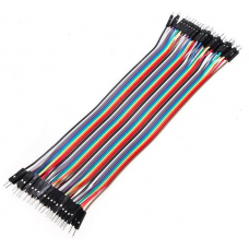 1A10001 40PCS Male to male Dupont Wire Color Jumper wire Cable 2.54mm 1P-1P 20cm