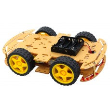4C000C 4WD Smart Robot Car Chassis Kits with Speed Encoder