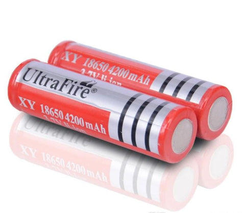 76  3.7v li-ion battery ultrafire x2