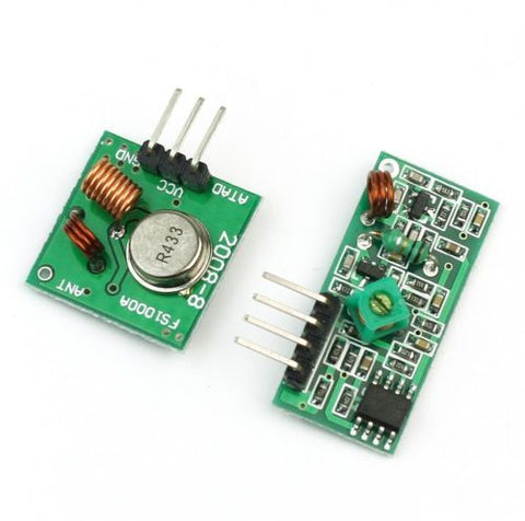 433Mhz RF transmitter and receiver link kit