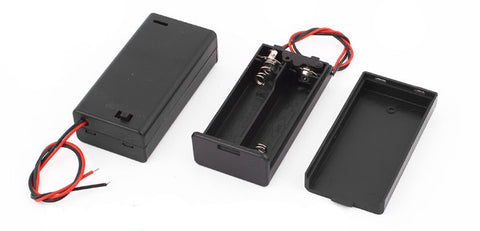 Black Plastic Shell Holder Storage Container Case Box for 2x1.5V AA Battery