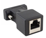 62000 VGA Male To RJ45/Ethernet Female Adapter Black