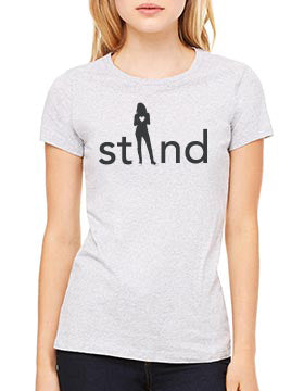 Womens Short Sleeve Stand For Love Tee