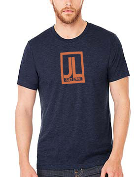 Mens Just Love Parallelogram Lo-Go Tee