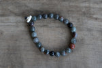 Bloodstone + Bone Single Wrap Wrist Bracelet - 1