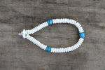 Bone + Painted Bead Single Wrap Wrist Bracelet