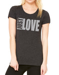 Womens Short Sleeve BIG Love Tee