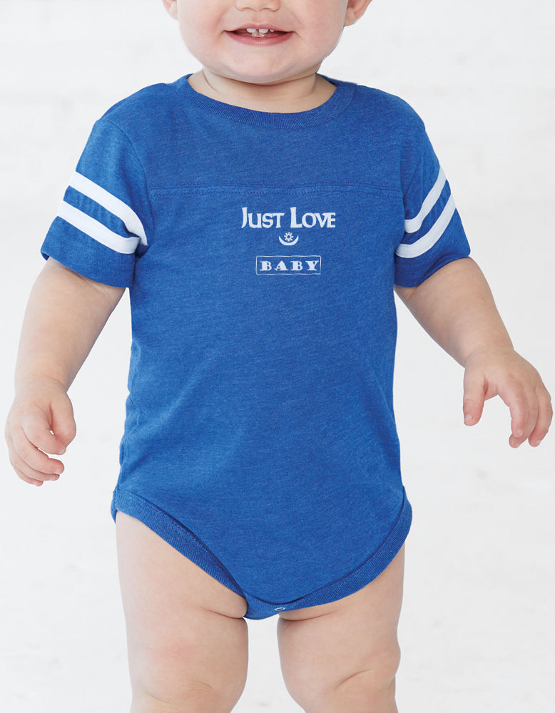 """Just Love Baby"" Short Sleeve One Piece Jersey"