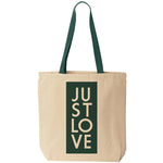 Just Love Tote Bag - Block Print
