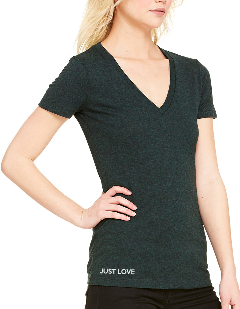 Womens Short Sleeve V-Neck Tee