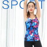 Women's Gym Sports Shirts Yoga Top + Free Chest Pad