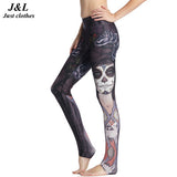 3D Painting Compression Pants Women Sporting