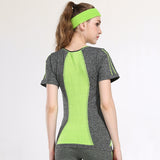 T-shirt Quick Dry Breathable Running Short Sleeve Yoga Tops Fitness Sport