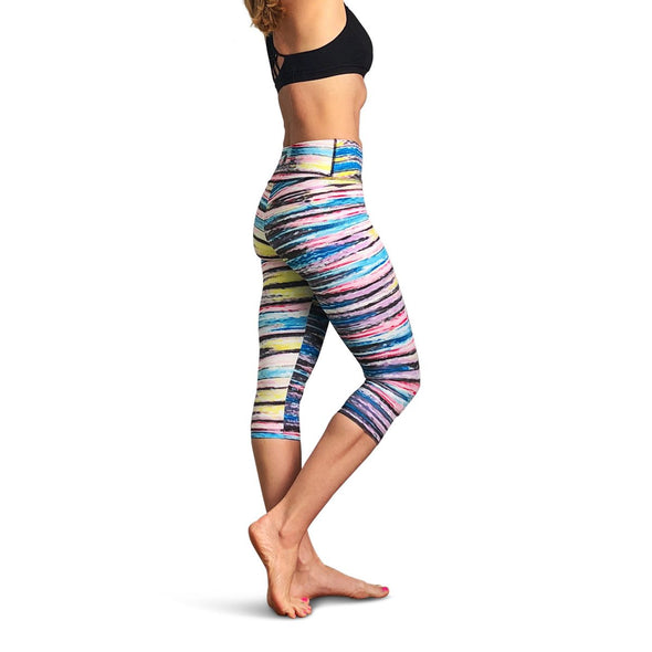Painted Stripe Capri