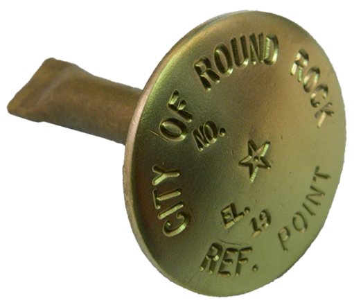 "2 1/4"" Brass Monument Marker - Stamped"