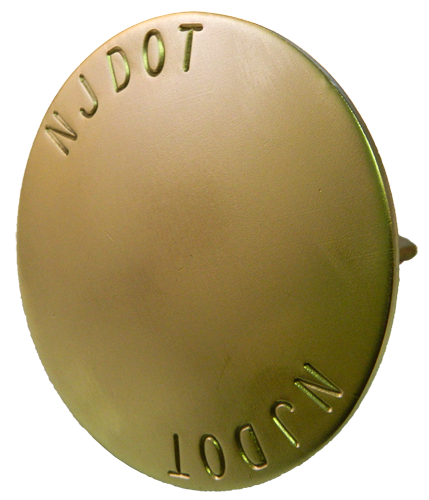 "3 5/8"" Brass Monument Marker - Stamped"
