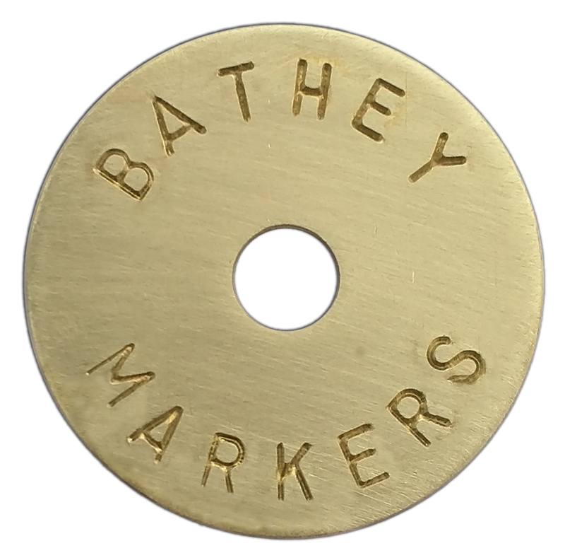 "1 1/4"" Brass Disk - Arc Text"